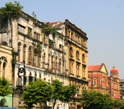 Your guide will explain the history behind some of Yangon's most famous colonial buildings including the old Rowe & Co department store and the Irrawaddy Flotilla Company's old offices